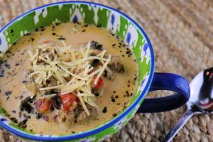 Creamy keto Italian sausage soup. Delicious and easy. #ketosoup #ketorecipes