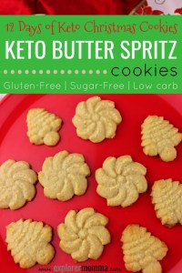 Ready for keto Christmas cookies? The perfect easy low carb holiday recipe. Keto cookies are the perfect family tradition. #christmascookies #lowcarbchristmas