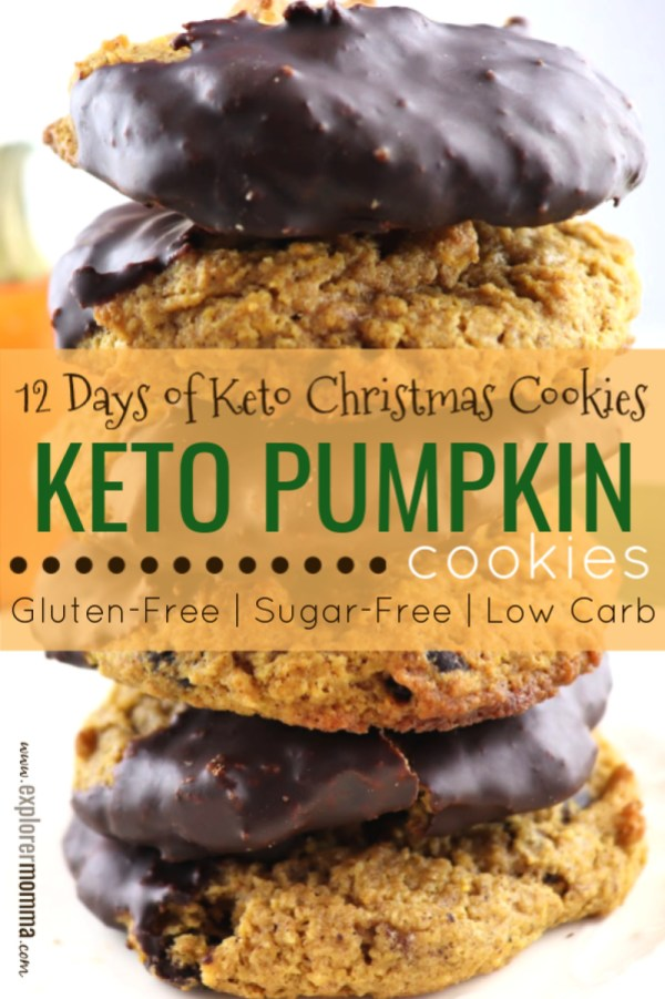 Keto Pumpkin Cookies are kid-friendly, full of flavor, the best low carb, gluten-free treat! Fall or the holidays, they'll be popular at any family table. #lowcarbcookies #ketorecipes