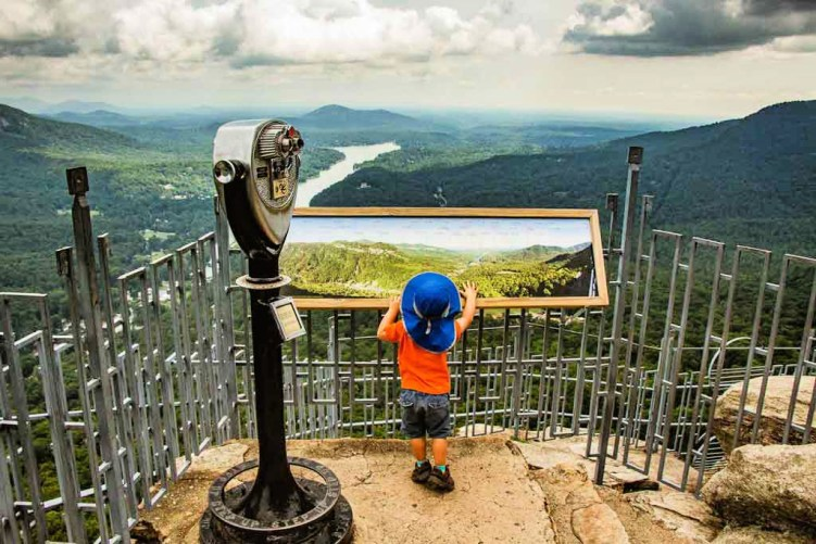 Chimney Rock State Park, North Carolina is the perfect adventure with kids! Hiking and family fun. Add it to your family bucket list today! #exploremore #familyadventure
