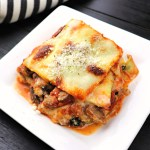 Keto zucchini lasagna is low carb and gluten-free with a vegetarian option! The perfect winter comfort food without the guilt. #zucchini #ketolasagna