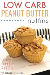 Low carb peanut butter muffins, the perfect keto breakfast or with a salad for lunch! Curb your craving and enjoy your low carb diet! #lowcarbmuffins #ketobreakfast