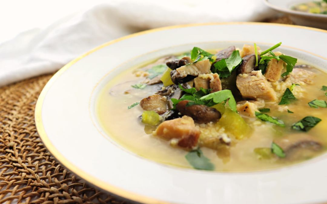 Low Carb Chicken Mushroom Soup