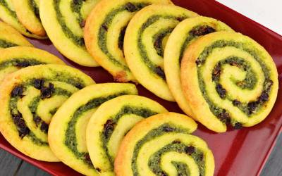 Low Carb Keto Pesto Pinwheels