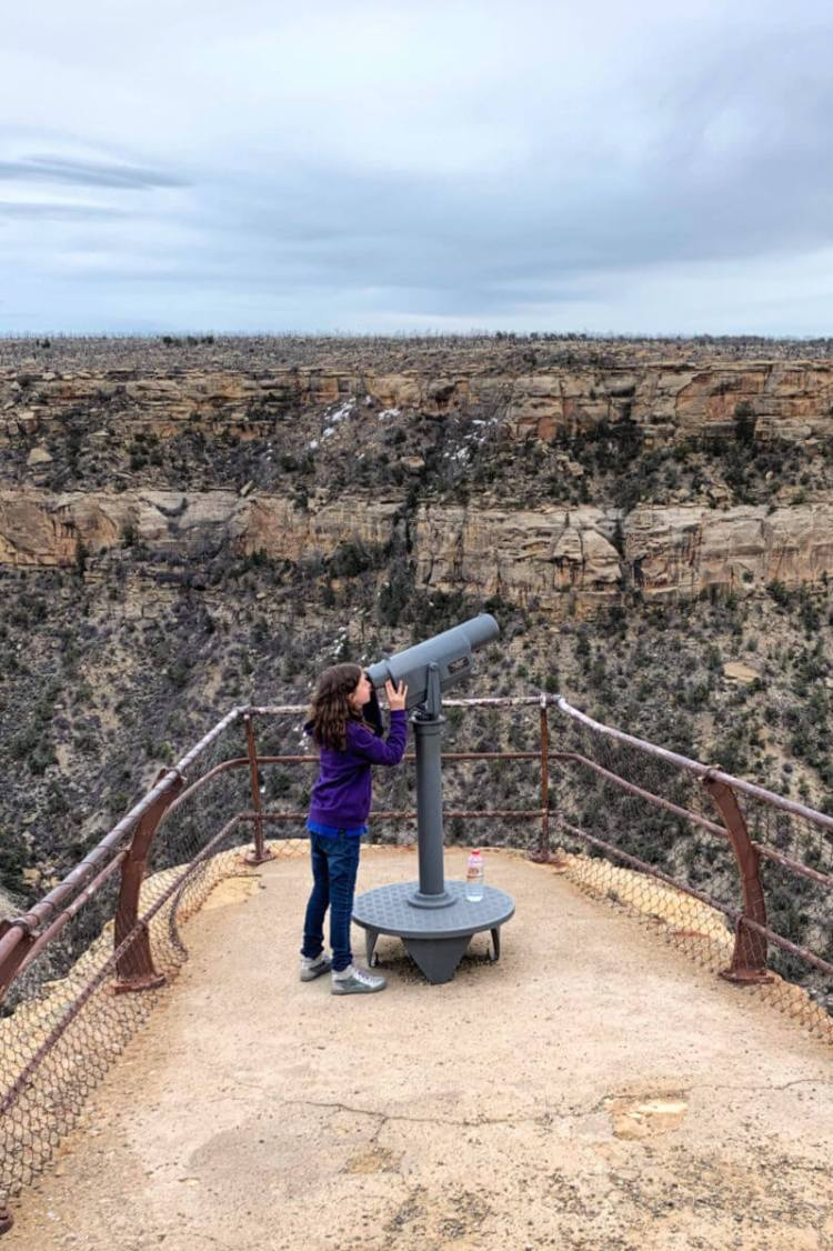 Looking though the telescope Mesa Verde NP #mesaverde #familytravel