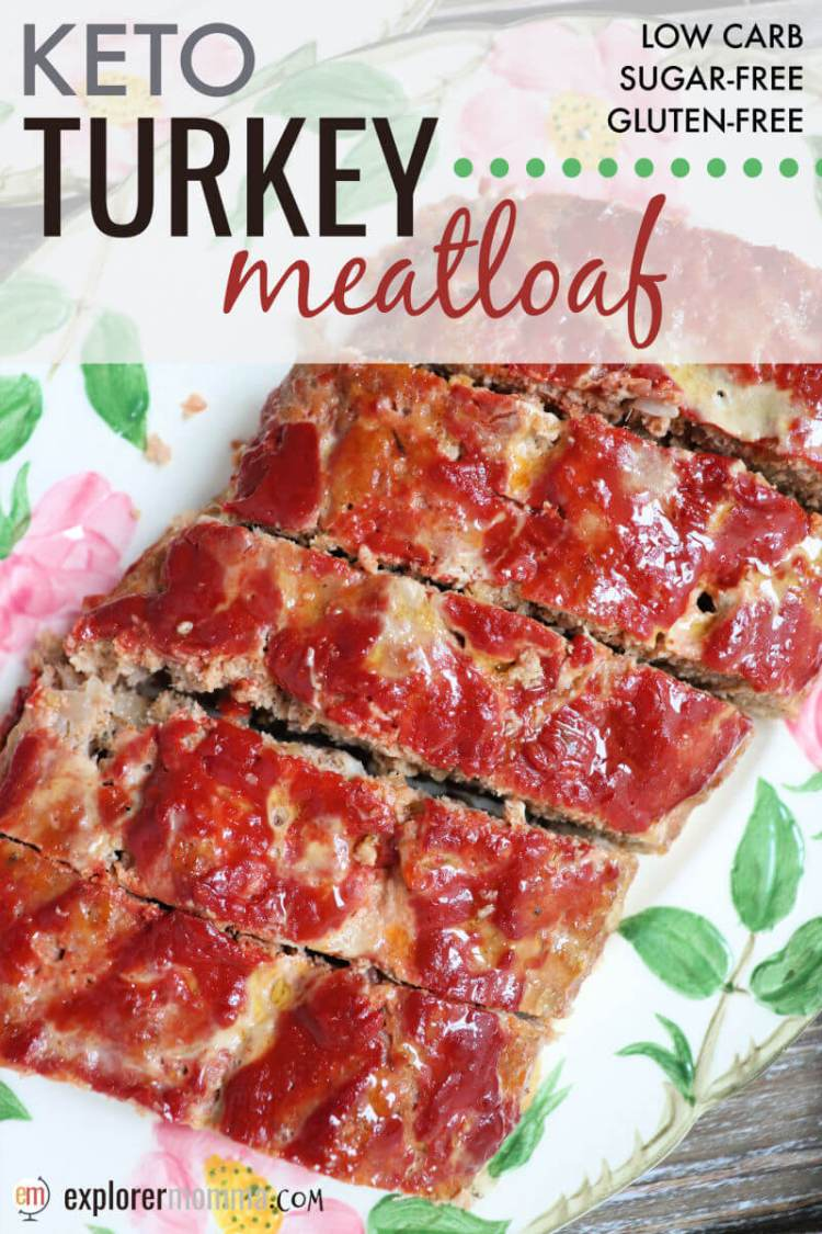 Keto Turkey Meatloaf is a delicious low carb family dinner. Gluten-free and super kid-friendly, perfect for a keto diet. #ketodinner #ketorecipes #lowcarbrecipes