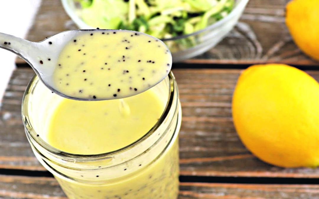 Keto Salad Dressing – Lemon Poppy Seed