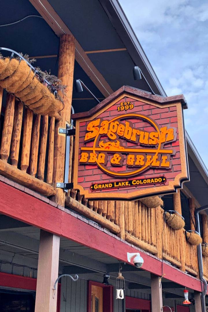 Dinner is always fun at the Sagebrush BBQ & Grill, restaurants in Grand Lake CO. #grandlakeco #grandlakecolorado