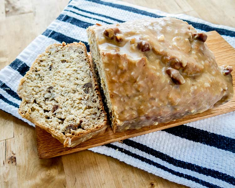 Nevis Banana Bread with coconut and dark rum