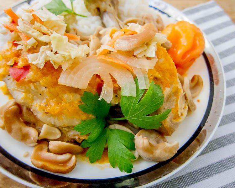 Manman poul ak nwa haitian cashew chicken explorers kitchen heat it your way forumfinder Images