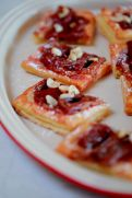 Roasted Rhubarb & Almond Tart