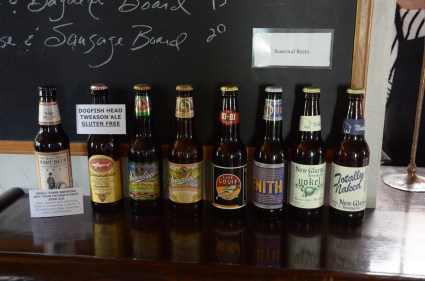 There is always a handful of Wisconsin brewed beer to try out.