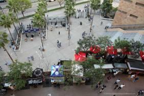 Entrance plaza and food vendors