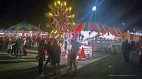 Carnival rides at December Nights