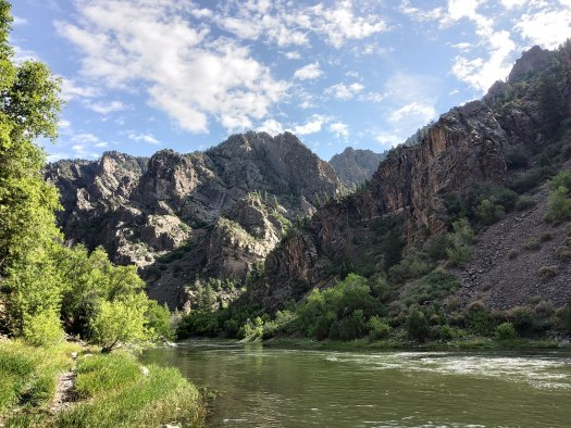 Gunnison River and gorge from the East Portal Campground