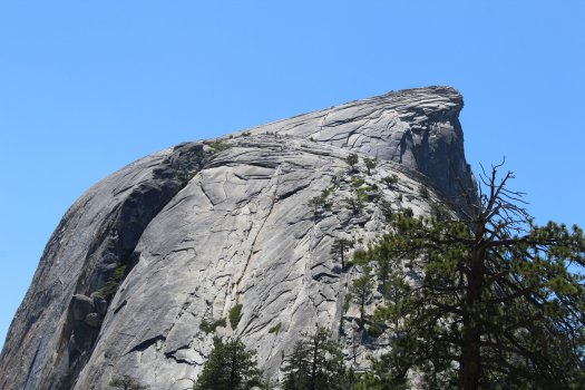 Top [half] of Half Dome - Yosemite National Park - 7-31-2019