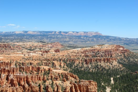Looking East from Inspiration Point with the Grand Staircase in the background - Bryce Canyon National Park