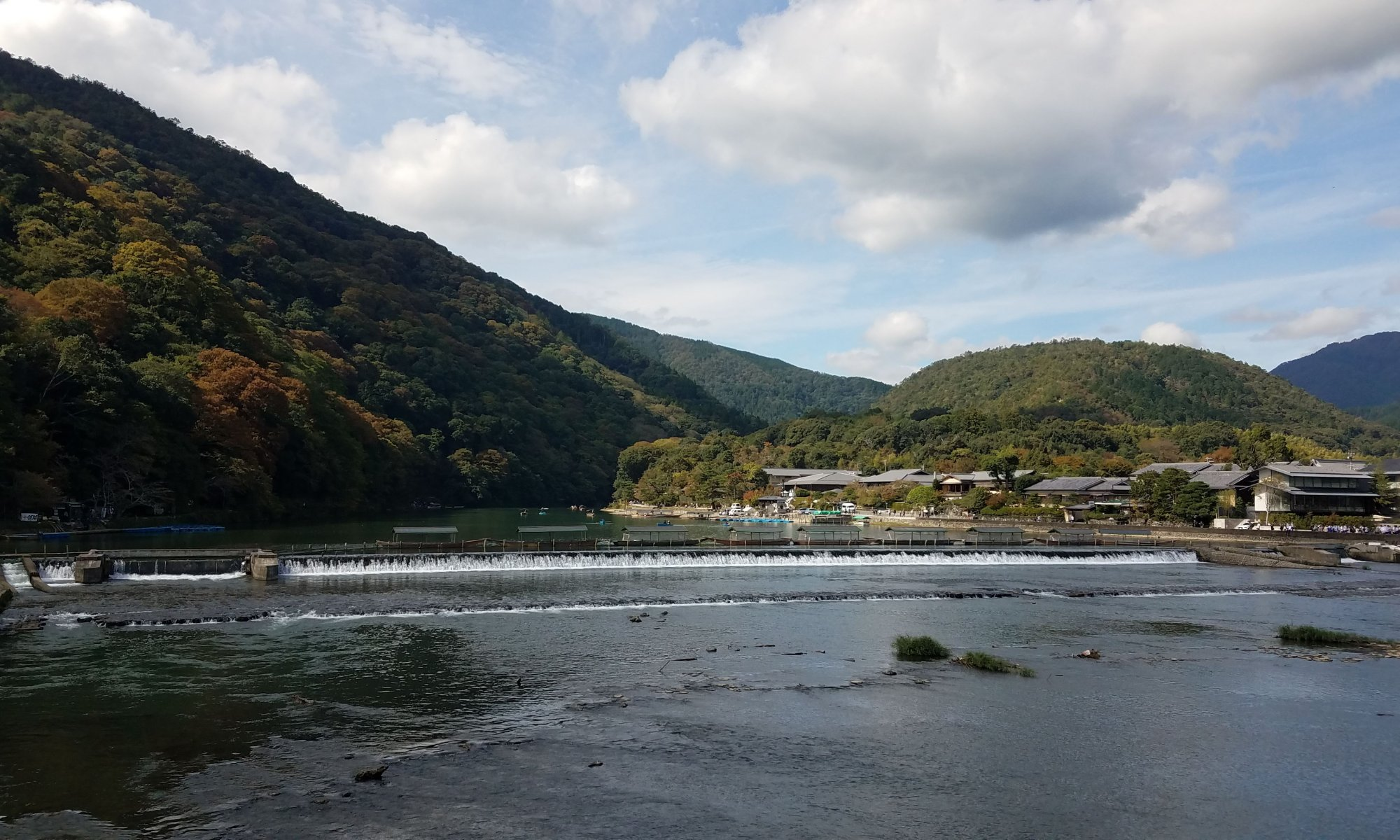 View from the Arashiyama Bridge - 10-23-2019