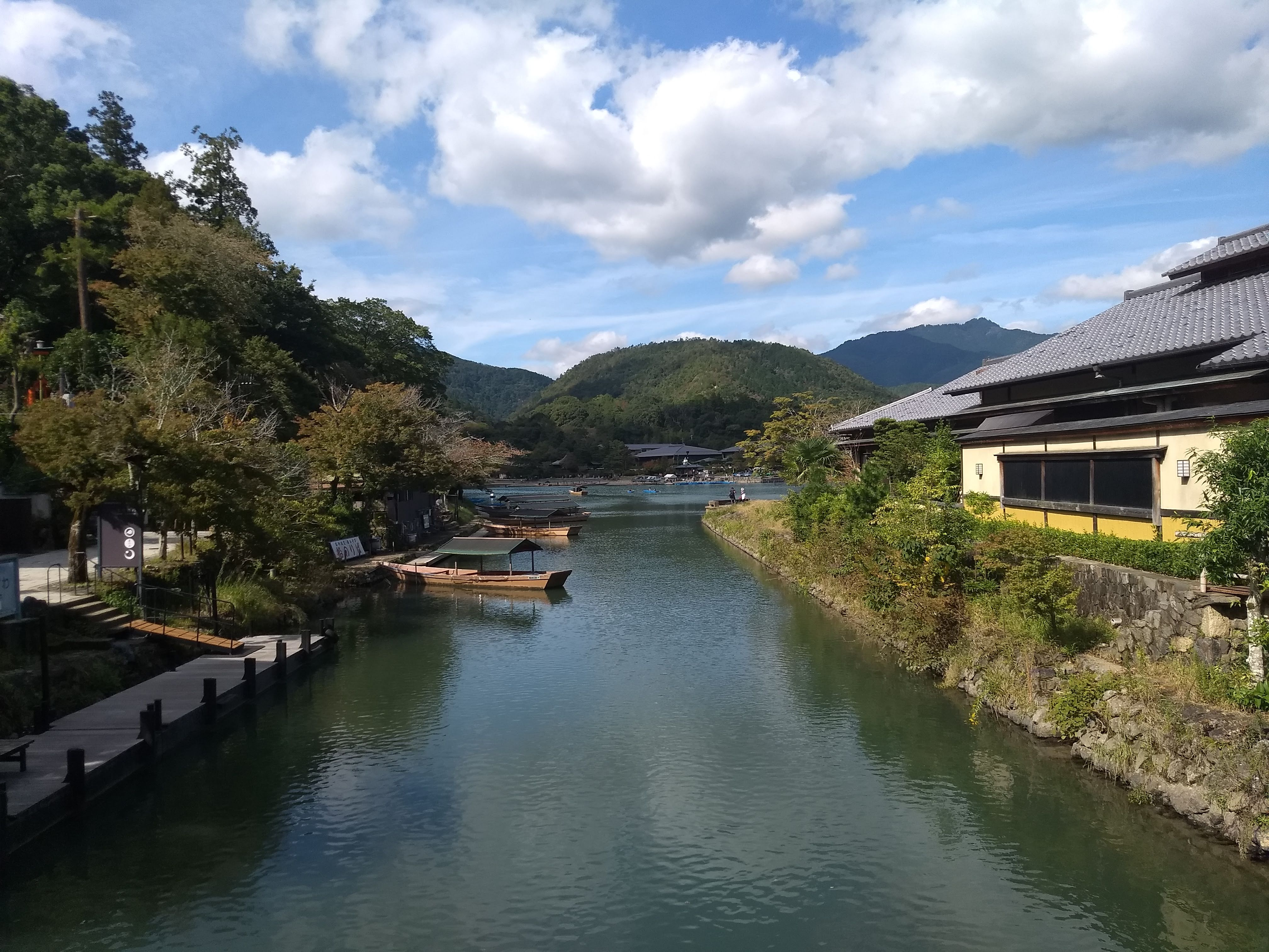Crossing the small bridge in Arashiyama - 10-23-2019