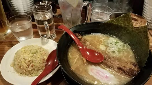 Ramen and fried rice at Hanamaruken Namba Hozenji