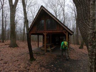 Dave exploring Raven Rock Shelter