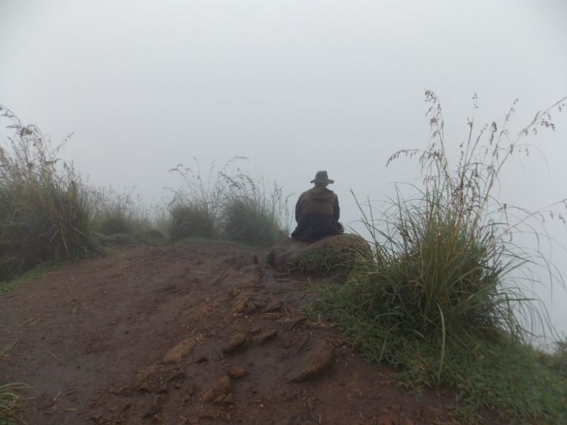 Lonely Guy at the Top of Little Adam's Peak