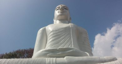 Second largest sitting buddha statue in Sri Lanka