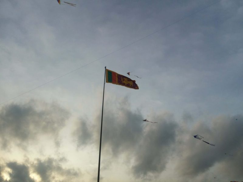 Sri Lankan Flag at Galle Face