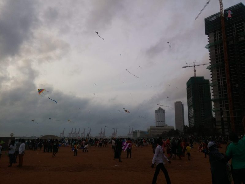 Uncountable Number of Kites in the Galle Face Sky