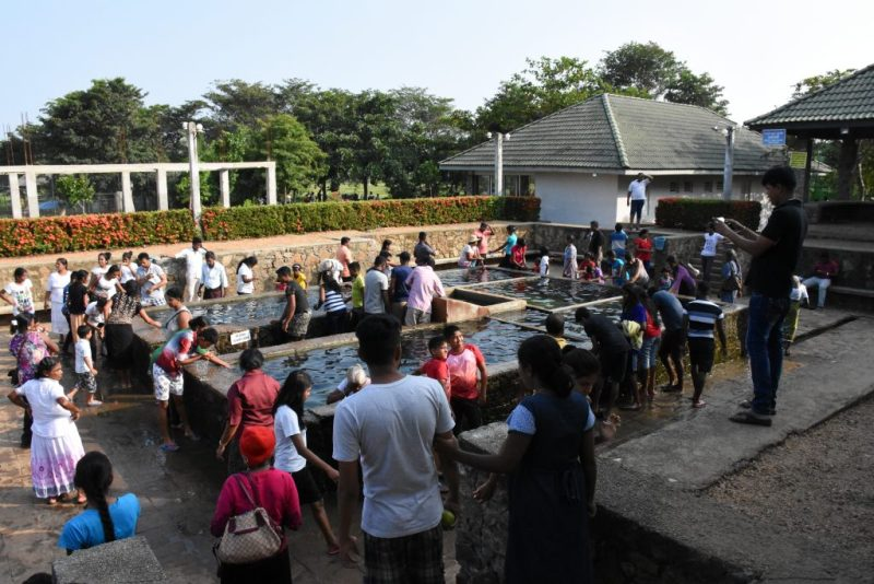 crowded hot water spring