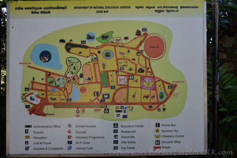Map of Dehiwala Zoo