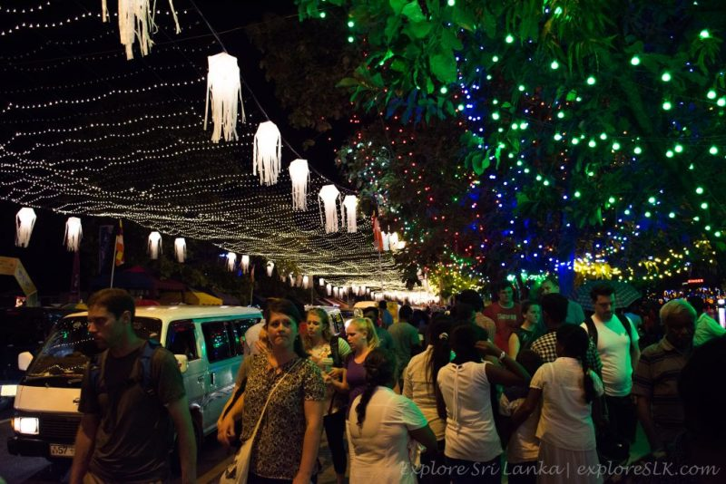 foreigners enjoying vesak