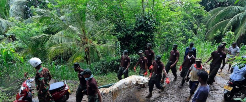 Landslide victims