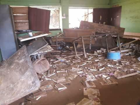 a school destroyed by flood