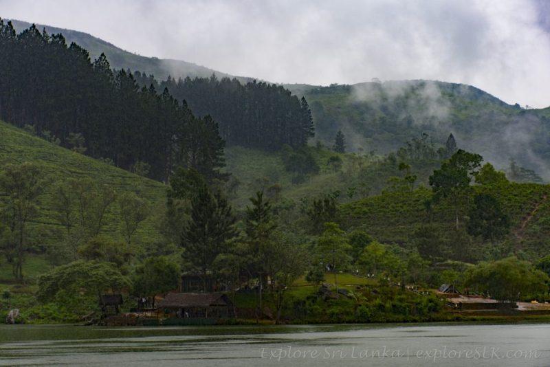The mountain range around Sembuwatta Lake