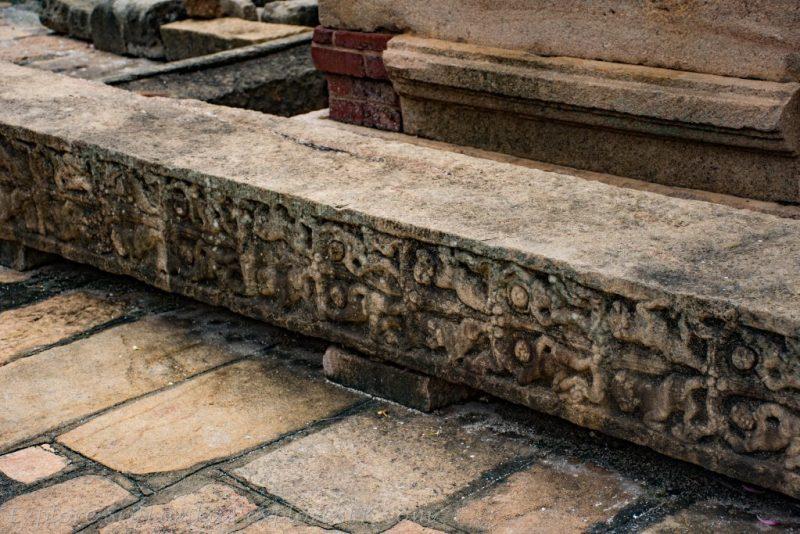 Remains of Wahalkada at Mirisawetiya Stupa