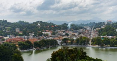 View of Kandy Lake from Arthur's Seat