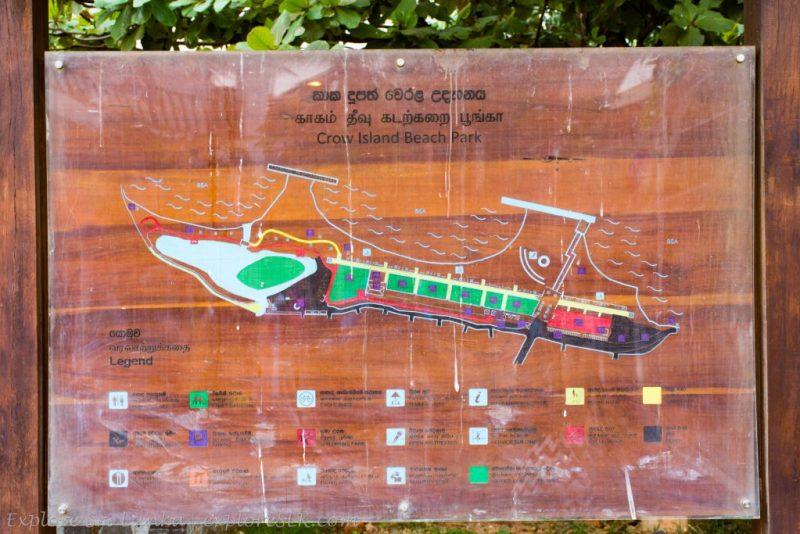 Map of Crow Island Beach Park
