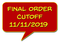 Final Order Cutoff (FOC) 11/11/19