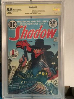 The Shadow #1 CBCS Graded 8.5 Signed by Mike Kaluta