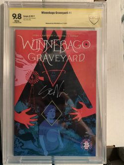Winnebago Graveyard #1 CBCS Graded 9.8 Signed by Steve Niles