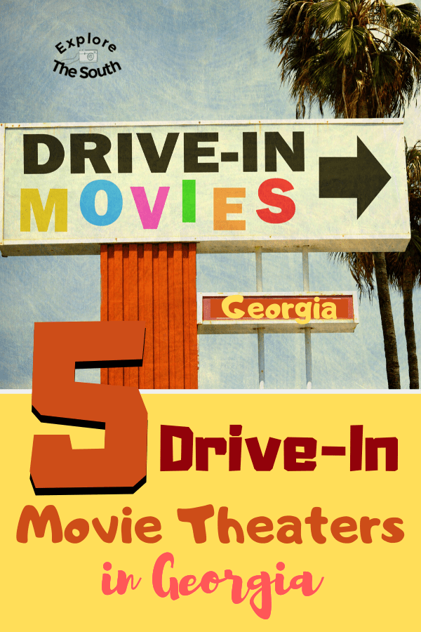 5 Drive-In Movie Theaters in Georgia. Enjoy a blast from the past modern style. Go to the drive-in movies and enjoy the experience of an outdoor movie on the big screen #driveinmovies #exploregeorgia
