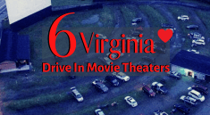 Aerial view of a Drive In Movie Theater