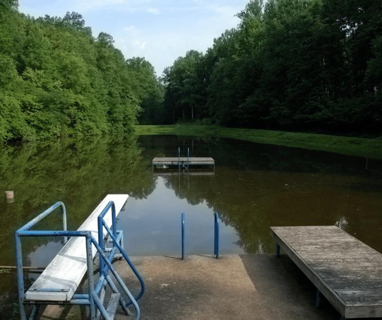 A swimming lake