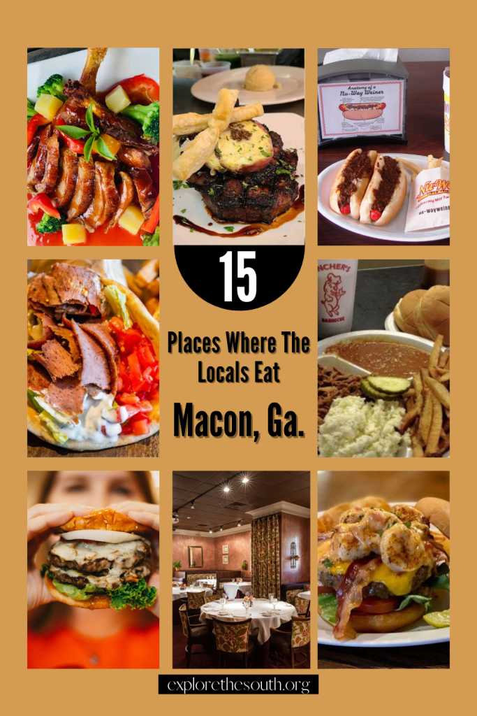 Photos of food plated from restaurants where the local eat in Macon Ga.