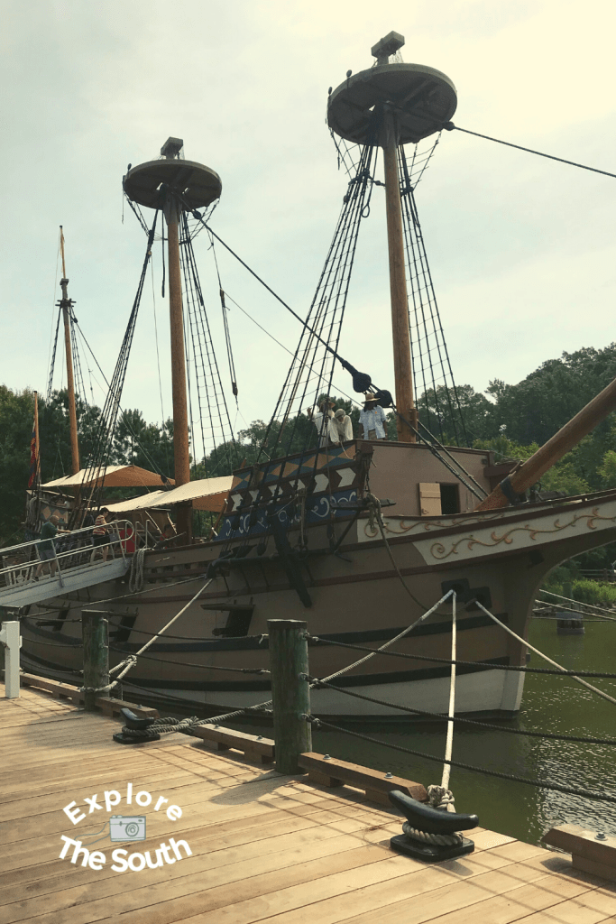 see the Jamestown settlers replica ship on a day trip in Virginia