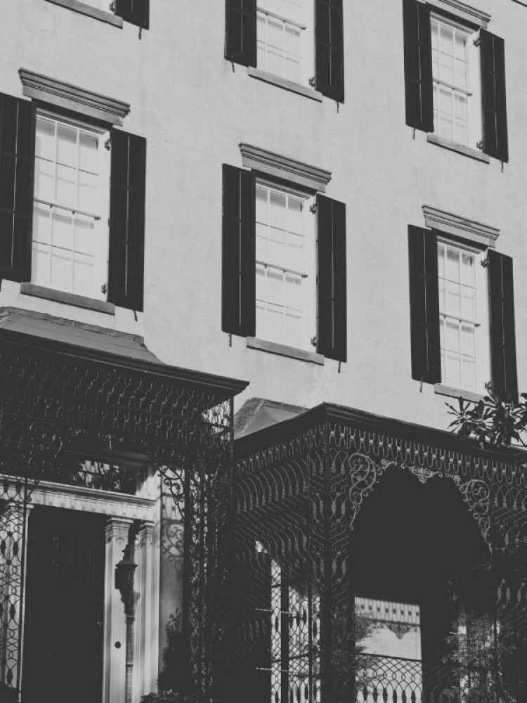 Savannah Georgia House with lots of windows