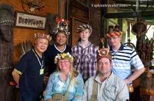 Exploretraveler.com Team with new friends Dario and Joy, in the rich culture of the Paiwan and Rukai Tribes at Sandiman Village in Southern Taiwan