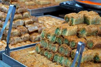 Kanafeh Künefe or Kadayif is a cheese butter pastry soaked in sweet syrup