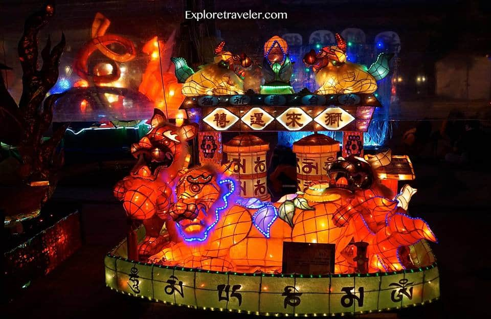 Kaohsiung Lantern Festival along the Love River in Taiwan